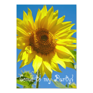 Come to my party! - Springtime sunflowers Card