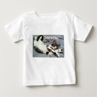 """Come To Papa"" Cat Baby T-Shirt"