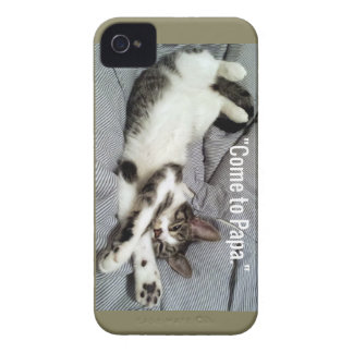 """Come To Papa"" Cat iPhone 4 Case-Mate Case"