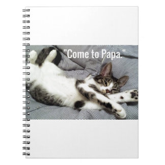 """Come To Papa"" Cat Notebooks"