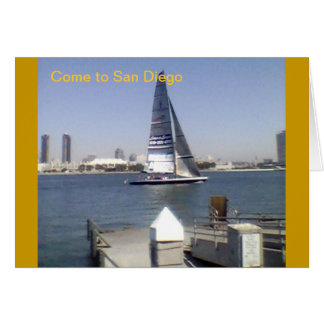 Come to San Diego Note Card