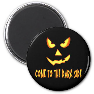 Come to the Dark Side Pumpkin Face 6 Cm Round Magnet