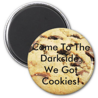 Come To The Darkside 6 Cm Round Magnet