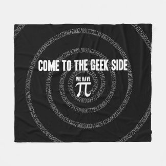 Come To The Geek Side for Pi Fleece Blanket