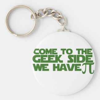 Come to the Geek side we have Pi Basic Round Button Key Ring