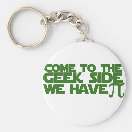 Come to the Geek side we have Pi Key Chain