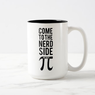 Come To The Nerd Side Two-Tone Coffee Mug