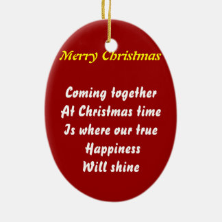 come together at christmas ceramic oval decoration
