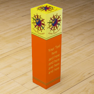 COME TOGETHER CIRCLE + your Text Wine Bottle Box