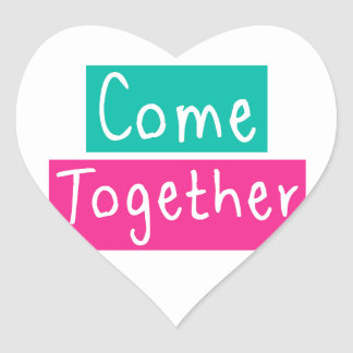 Come Together Heart Sticker
