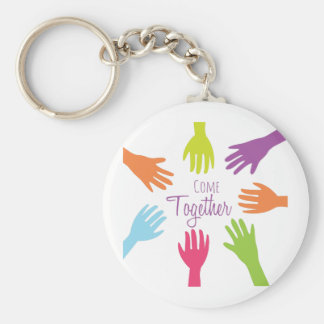 Come Together Basic Round Button Key Ring