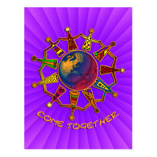 Come Together People | bluepink radial Postcard