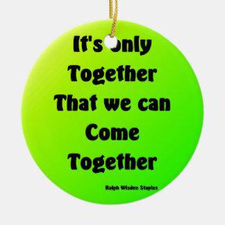 come together round ceramic decoration