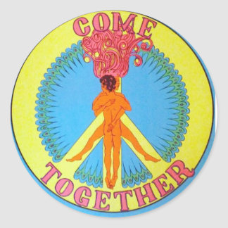 Come Together Round Sticker