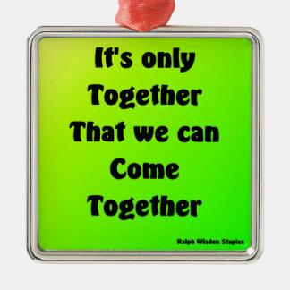 come together Silver-Colored square decoration