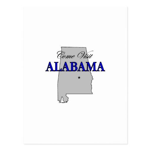 Come Visit Alabama Postcards