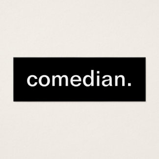 Comedian Business Card