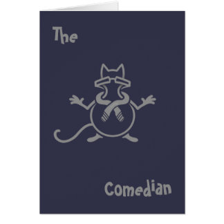 Comedian Cat Card