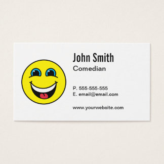 Comedian Laughing Smiley Business Card