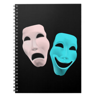comedy-157719  comedy face theater tragedy masks r spiral notebook