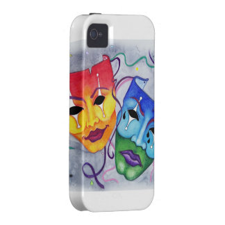 Comedy and Tragedy Case-Mate iPhone 4 Case
