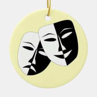 Comedy And Tragedy Ceramic Ornament