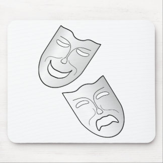 Comedy and Tragedy Faces/Masks Mousepad