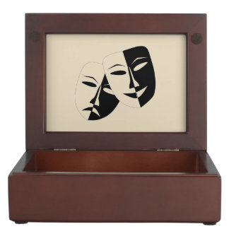 Comedy And Tragedy Keepsake Box