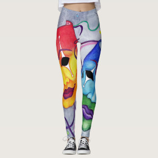 Comedy and Tragedy Leggings