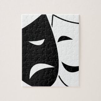 Comedy And Tragedy Mask Jigsaw Puzzle