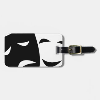 Comedy And Tragedy Mask Luggage Tag