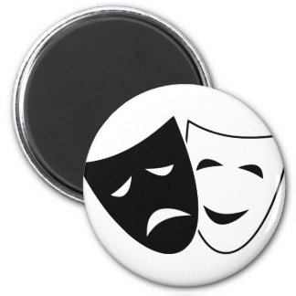 Comedy And Tragedy Mask Magnet