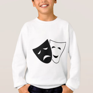 Comedy And Tragedy Mask Sweatshirt