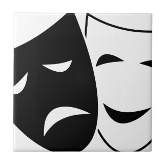 Comedy And Tragedy Mask Tile
