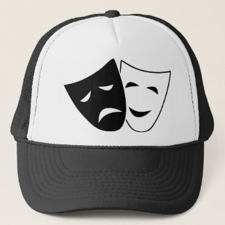 Comedy And Tragedy Mask Trucker Hat