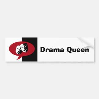Comedy and Tragedy Masks Bumper Sticker