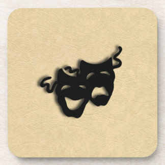 Comedy and Tragedy Masks Theater Coaster
