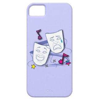 Comedy and Tragedy Stylized Drama Masks iPhone 5 Cases