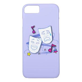 Comedy and Tragedy Stylized Drama Masks iPhone 7 Case