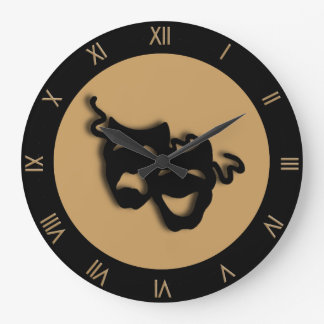 Comedy and Tragedy Tan Brown Theatre Wall Clock