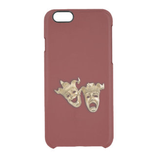 Comedy and Tragedy Theater Clear iPhone 6/6S Case