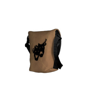 Comedy and Tragedy Theater Masks Mini Bag Courier Bag