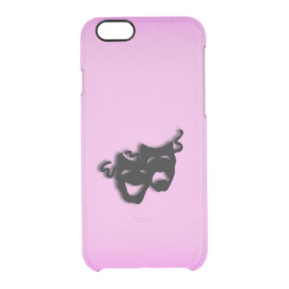 Comedy and Tragedy Theater Pink Clear iPhone 6/6S Case