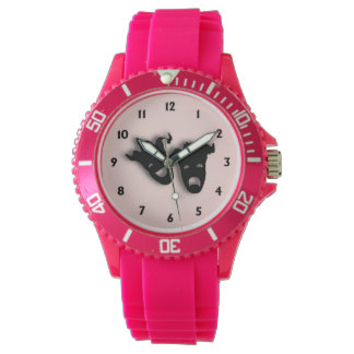 Comedy and Tragedy Theater Pink Watch