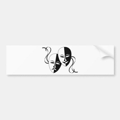 Comedy and Tragedy Theatre Masks/Faces Bumper Sticker