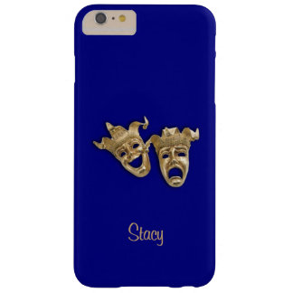 Comedy and Tragedy Unique Theater Monogram Navy Barely There iPhone 6 Plus Case