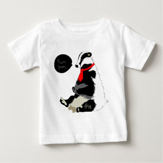 Comedy badger in neck tie baby T-Shirt
