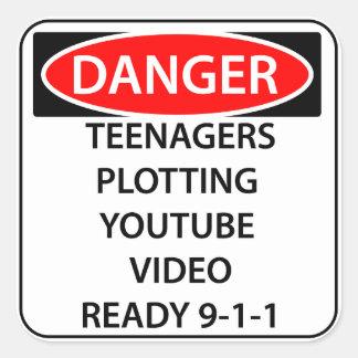 Comedy Danger Sticker -Teenagers