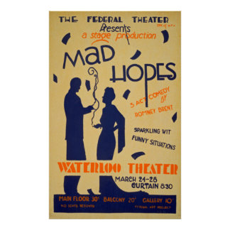 Comedy Performance Vintage Poster