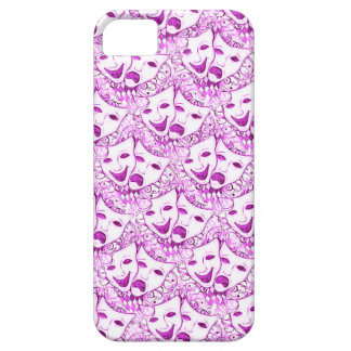 Comedy Tragedy Drama Masks, iPhone 5 Mask in Pink iPhone 5 Covers
